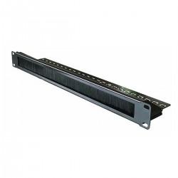 """Panel pasacables guíacables para armario rack 19"""" 1U con cepillo para gestión de cables"""