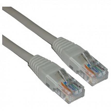 Cable UTP cruzado Cat.5e gris 25cm
