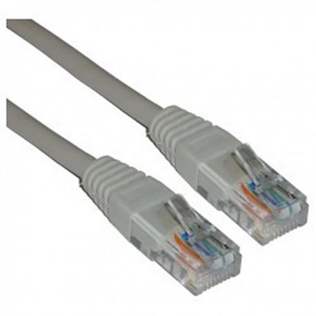 Cable UTP cruzado Cat.5e gris 15m