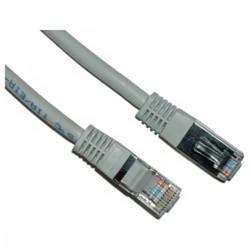 Cable FTP cruzado Cat.5e gris 1m
