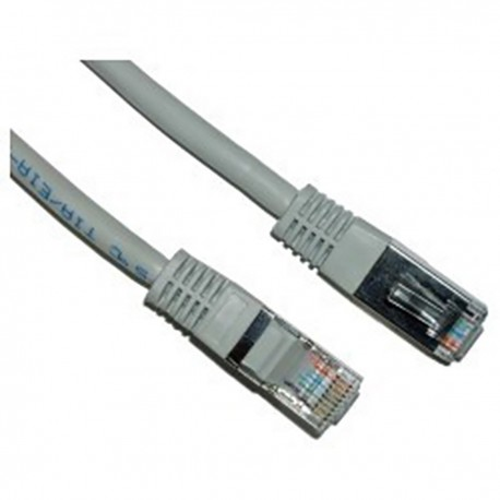 Cable FTP cruzado Cat.5e gris 15m