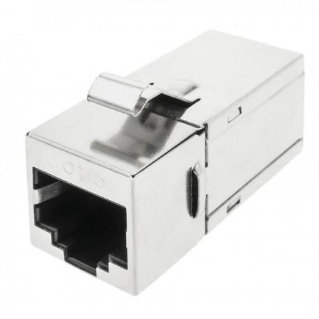 Conector keystone RJ45 hembra a RJ45 hembra Cat.6 FTP compacto metálico