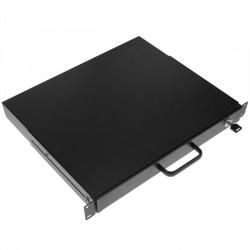Bandeja telescópica para rack de 1U y fondo 370mm para teclado