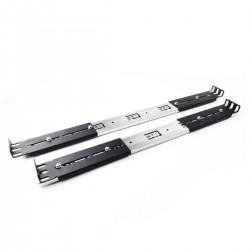 """Guías laterales telescópicas de 450 mm extensibles para caja rack 19"""" IPC"""