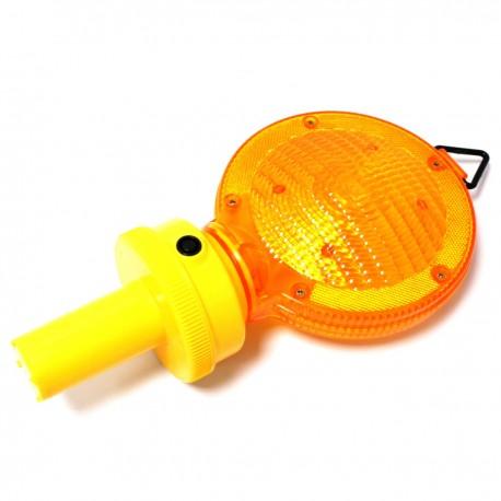 Lámpara con luz de señalización intermitente para cono o colgar con interruptor 44mm