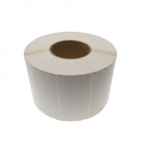 Rollo bobina de 2500 etiquetas adhesivas para impresora transferencia térmica 101.6x50.8mm