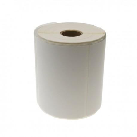 Rollo bobina de 350 etiquetas adhesivas para impresora transferencia térmica 101.6x101.6mm