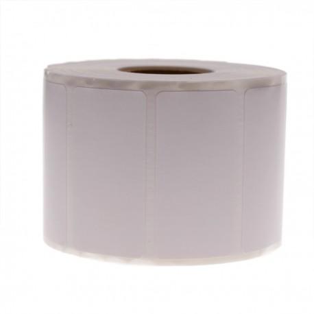 Rollo bobina de 1100 etiquetas adhesivas para impresora transferencia térmica 50.8x25.4mm