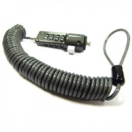 Notebook Computer Lock Cable Espiral (Combinación 4 dígitos)