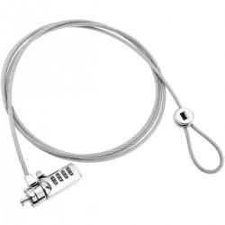Cable antirrobo para ordenador portátil y notebook. Candado de seguridad de 4 dígitos