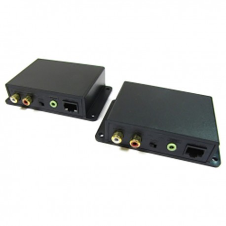 Extensor de audio estéreo UTP Cat.5 emisor y receptor AE02