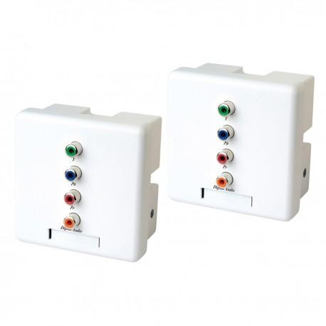 Extensor de audio digital y vídeo YPbPr UTP Cat.5 pared emisor y receptor YW02D