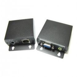 Extensor VGA de alta resolución con audio UTP Cat.5 emisor y receptor VE01HA