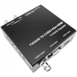 Conversor adaptador de vídeo HD coaxial TVI CVI y AHD a vídeo HDMI CVBS y VGA