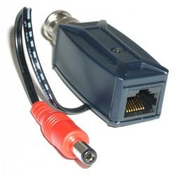 Transceptor de vídeo pasivo BNC DC a RJ45 TTP111VP3