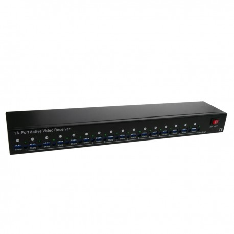"Transceptor de vídeo activo para rack 19"" con 16 puertos dobles BNC a 4 puertos RJ45"