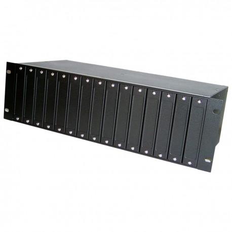 "Armario rack 19"" 3U para tarjetas receptoras balun TRN012"