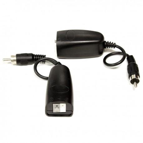 Balun pasivo de audio con cable RCA a par trenzado de 2 terminales - 2 unidades