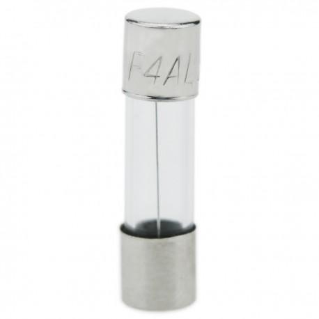 Fusible de cristal 4A 5x20mm 10 unidades