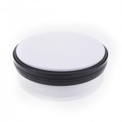 Base giratoria eléctrica de 15 cm. Plataforma rotatoria de color blanco
