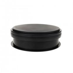 Base giratoria eléctrica de 15 cm. Plataforma rotatoria de color negro