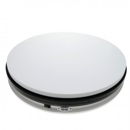 Base giratoria eléctrica de 35 cm. Plataforma rotatoria de color blanco