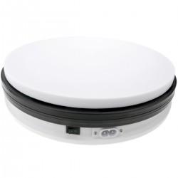 Base giratoria eléctrica de 25 cm. Plataforma rotatoria de color blanco