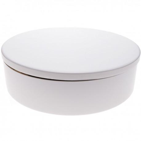 Base giratoria eléctrica de 40 cm. Plataforma rotatoria de color blanco