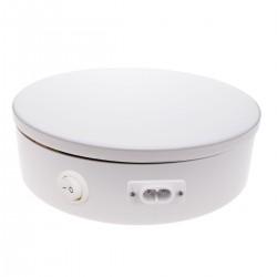 Base giratoria eléctrica de 50 cm. Plataforma rotatoria de color blanco
