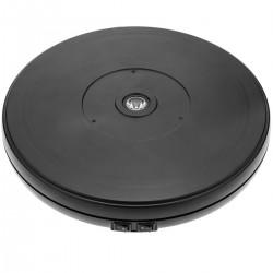 Base giratoria eléctrica de 25 cm. Plataforma rotatoria de color negro con iluminación LED