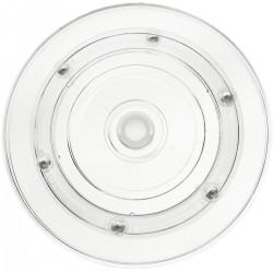 Base giratoria manual de 10 cm. Plataforma rotatoria transparente