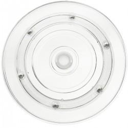 Base giratoria manual de 15 cm. Plataforma rotatoria transparente
