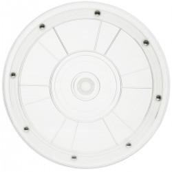 Base giratoria manual de 20,3 cm. Plataforma rotatoria transparente