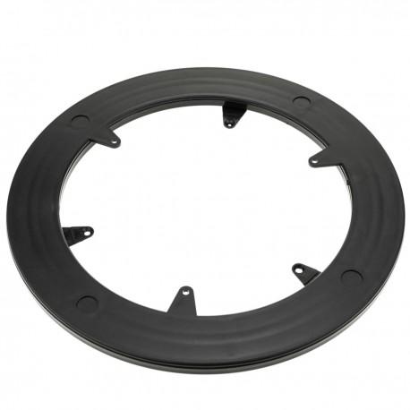 Base giratoria manual de 25 cm y 100Kg de carga. Plataforma rotatoria de color negro