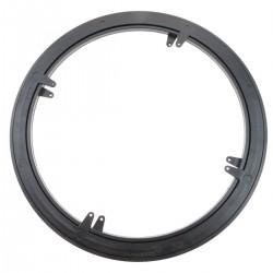 Base giratoria manual de 45 cm y 100Kg de carga. Plataforma rotatoria de color negro