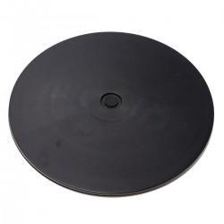Base giratoria manual de 30,6 cm. Plataforma rotatoria de color negro