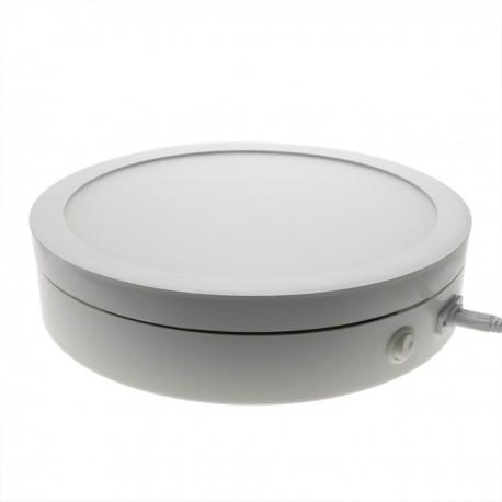 Base giratoria eléctrica iluminada de 30 cm. Plataforma rotatoria de color blanco para fotografía