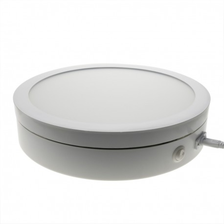 Base giratoria eléctrica iluminada de 40 cm. Plataforma rotatoria de color blanco para fotografía