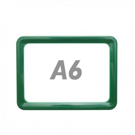 Marco para letreros y carteles A6 150x110mm verde para rotulación