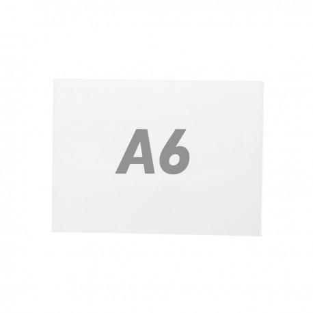 Lámina de plástico transparente doble para marco A6 para rotulación
