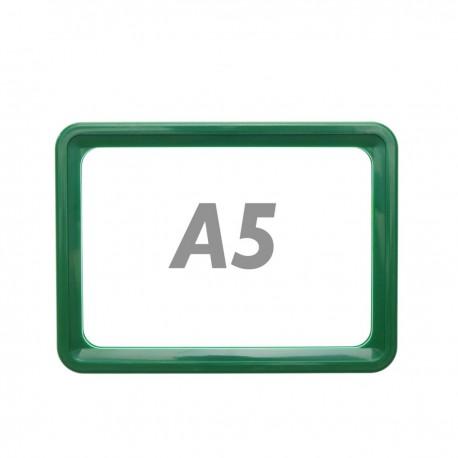 Marco para letreros y carteles A5 218x155mm verde para rotulación
