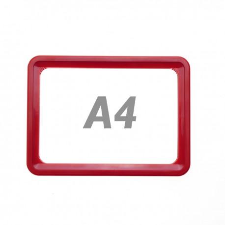 Marco para letreros y carteles A4 306x215mm rojo para rotulación