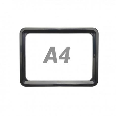 Marco para letreros y carteles A4 306x215mm negro para rotulación