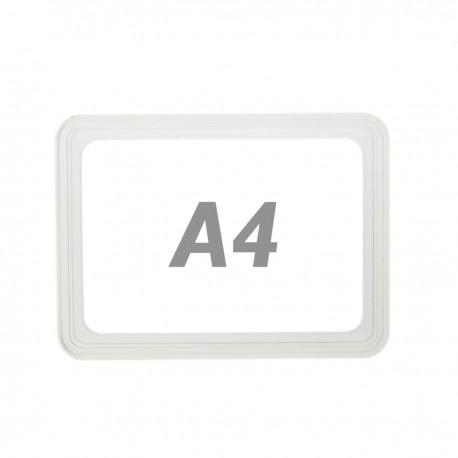Marco para letreros y carteles A4 306x215mm transparente para rotulación