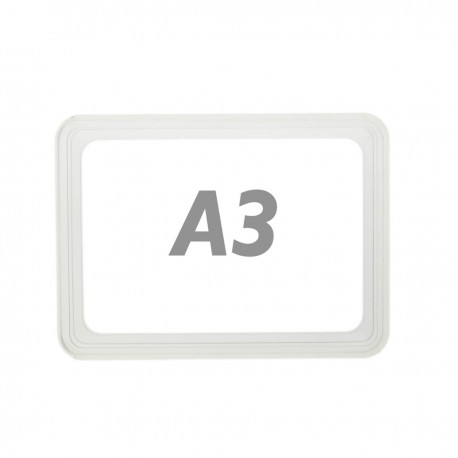 Marco para letreros y carteles A3 427x304mm transparente para rotulación