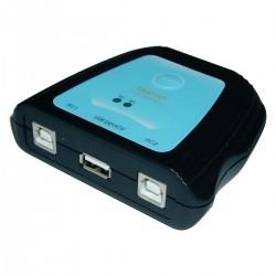 Conmutador USB manual de 2 ordenadores a 1 puerto USB