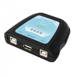 Conmutador USB manual de 4 ordenadores a 1 puerto USB