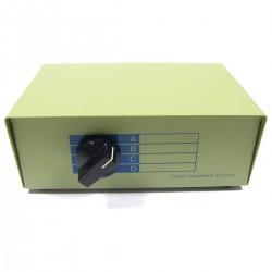 Conmutador manual de RJ45 de 4 puertos