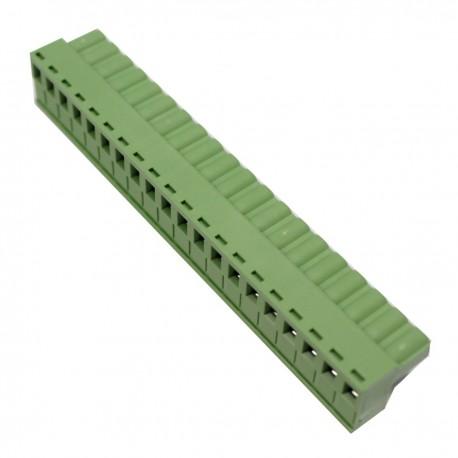 Conector hembra para circuito impreso 20 terminales 7.62mm