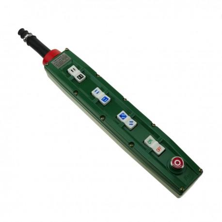 Caja de 2+2+2+2 pulsadores momentaneos y parada de emergencia de la serie BAK63